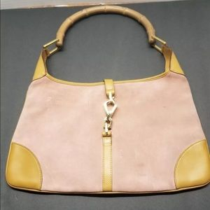Gucci Shoulder bag Bamboo Pink Brown